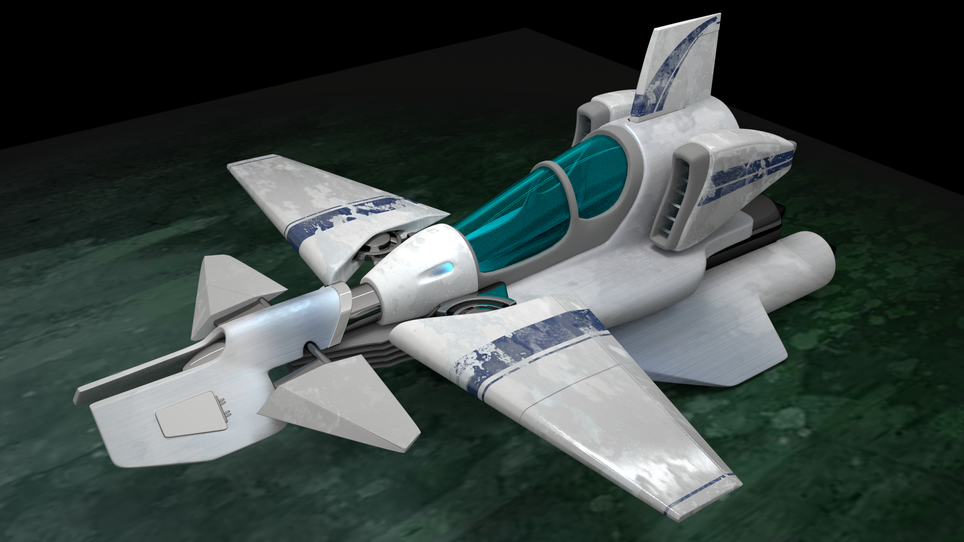 Ship 3D - My First Blender project. More work needed on Shaders and Lighting